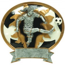 female-soccer-resin-plaque